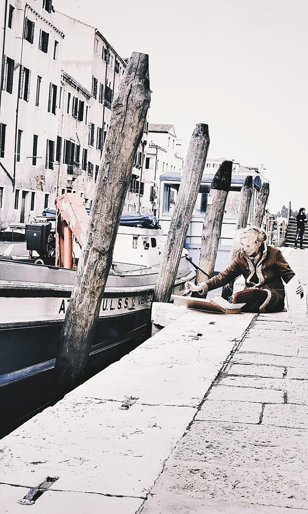 Street artist verso Fondamente Nove