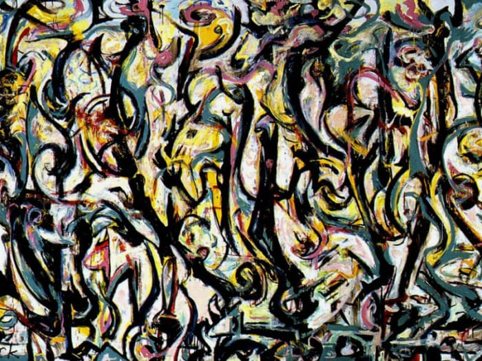 Jackson Pollock. Mural painting, energy made visible