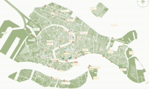 Inside Venice Map, design by Giacomo Torsani