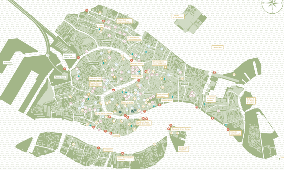Inside Venice Map, design by Giacomo Torsani